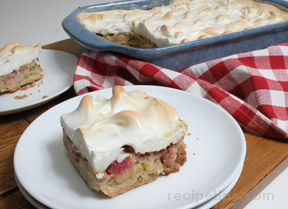 rhubarb meringue dessert Recipe