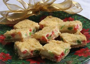 Merry Christmas Cheesecake Bars