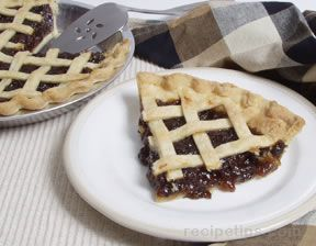 Mincemeat Pie with Lattice Top