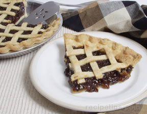 Mincemeat Pie with Lattice Top