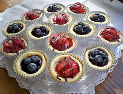 Mini Fruit Cheesecakes Recipe