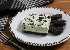 mint oreo ice cream dessert Recipe