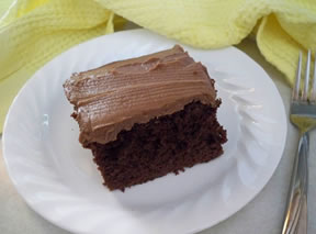 Moist Chocolate Cake with Fudge Frosting