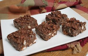 No Bake Rocky Road Bars Recipe