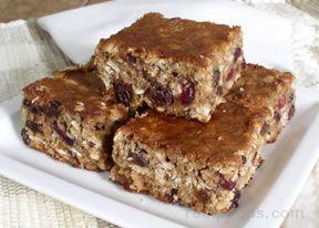 Oatmeal Cran-Raisin Bars