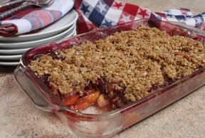peach and blueberry crisp Recipe