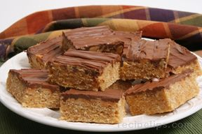 peanut butter krispie bars Recipe