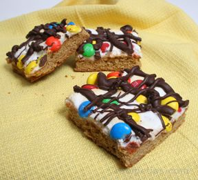 Peanut Butter M and M Bars Recipe