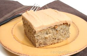 Peanut Butter Banana Cake Recipe