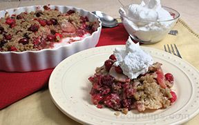 Pear and Cranberry Cobbler Recipe
