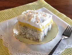 Poppy Seed Coconut Cake Recipe