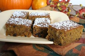 pumpkin currant bars Recipe