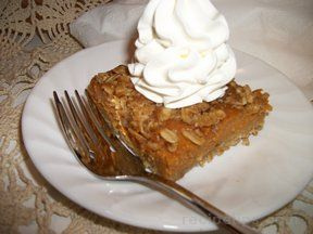 pumpkin dessert with pecan topping Recipe