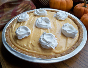 Pumpkin Pudding Pie