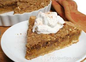 Pumpkin Tart with Walnut Streusel Recipe