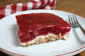raspberry pretzel dessert Recipe