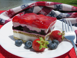 red white  blue cream cheese dessert Recipe