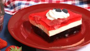 red white and blue gelatin salad Recipe