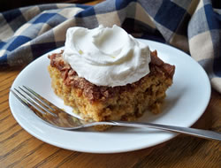 Rhubarb Cake with Cinnamon and Sugar