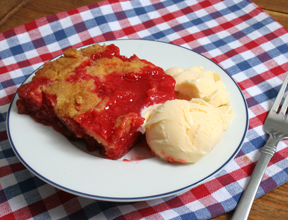rhubarb cherry dessert Recipe