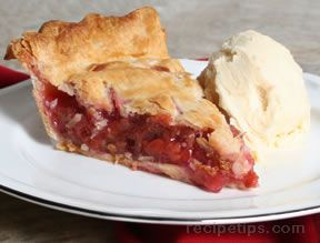 rhubarb and cherry pie Recipe