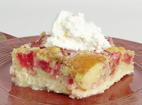 Rhubarb Custard Cake Recipe Recipetips Com