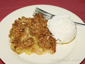 Rhubarb Custard Crisp Recipe