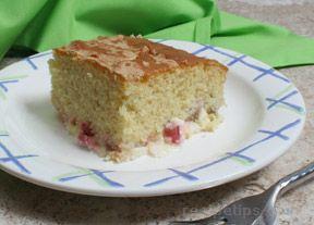 Rhubarb Custard Yellow Cake