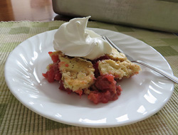 Rhubarb Layer Cake Recipe
