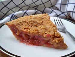 Rhubarb Streusel Pie