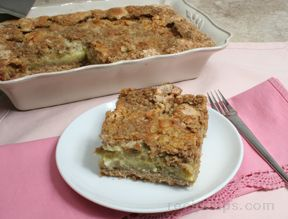 Rhubarb Cake with Custard Filling