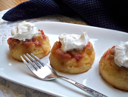 Rhubarb Upside Down Muffins Recipe