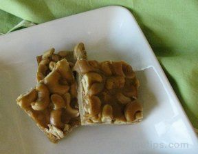 Salted Cashew Bars Recipe