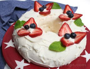 star spangled angel food cake Recipe