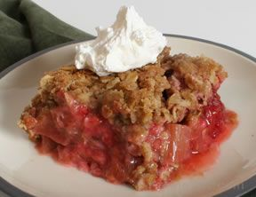 Rhubarb Strawberry Crisp Recipe