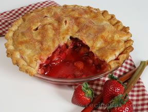 Rhubarb Strawberry Pie Recipe