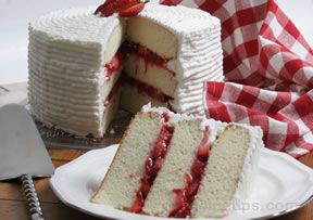 Strawberry Triple Layer Cake Recipe