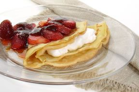 Strawberry Dessert Crepe Recipe