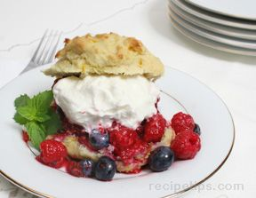Two Berry ShortcakesnbspRecipe