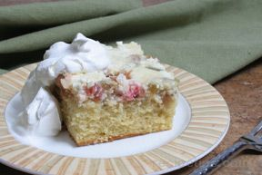 Rhubarb Custard Upside-Down Cake