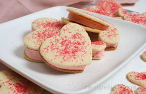 Valentine Ice Cream Cookies