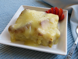vanilla cream bread pudding Recipe