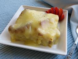 vanilla cream bread pudding Recipe