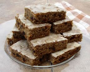 Zucchini Carrot Bars with Glaze Topping