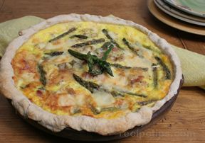 chicken and asparagus quiche Recipe