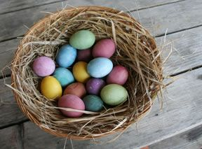 easter eggs with natural dyes Recipe