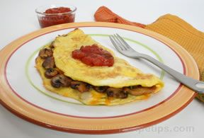 Cheese and Vegetable Omelet Recipe