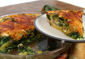 spinach quiche - gluten free and wheat free Recipe