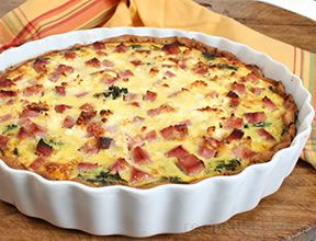 broccoli and ham quiche Recipe