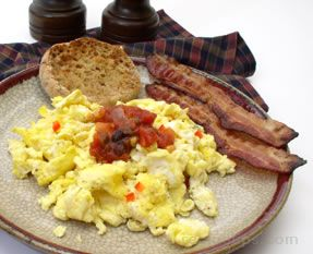 scrambled eggs with salsa Recipe